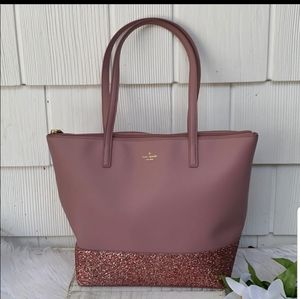 Kate Spade Penny Greta Court tote in Dusty Peony